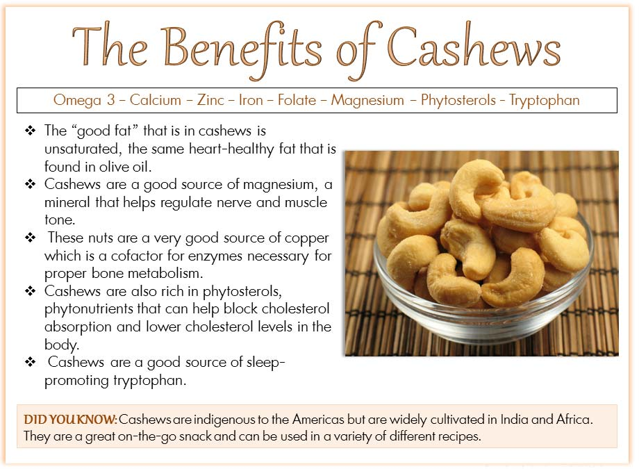 Cashew Nuts And It's Benefits