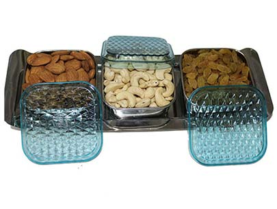 Square Dry Fruits Box with Lid