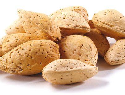 Kagzi almond with shell